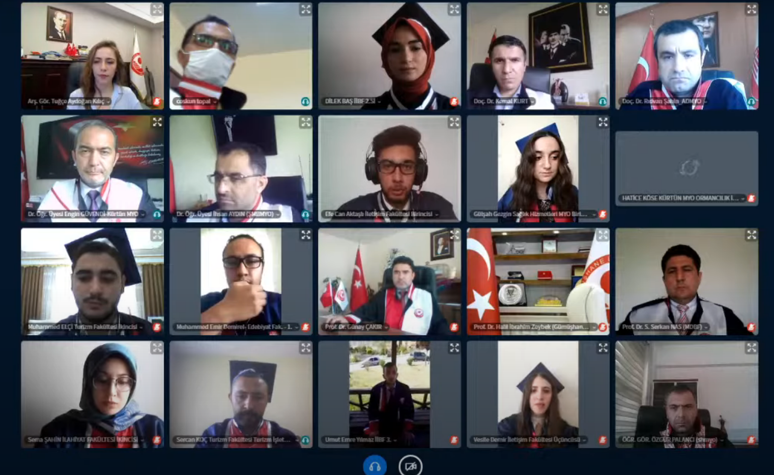 Virtual Graduation Ceremony was held at our University