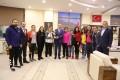 Bayan Futsal Takımı'ndan Rektörümüze ziyaret