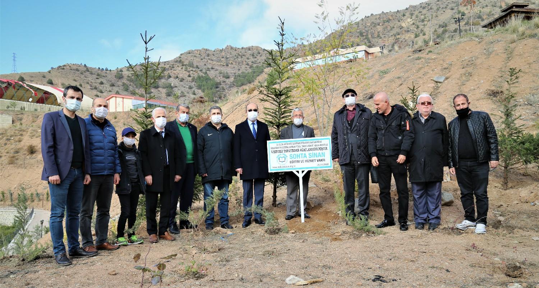 Sohta Sinan Vakfı'ndan 4 Bin Fidan Bağışı