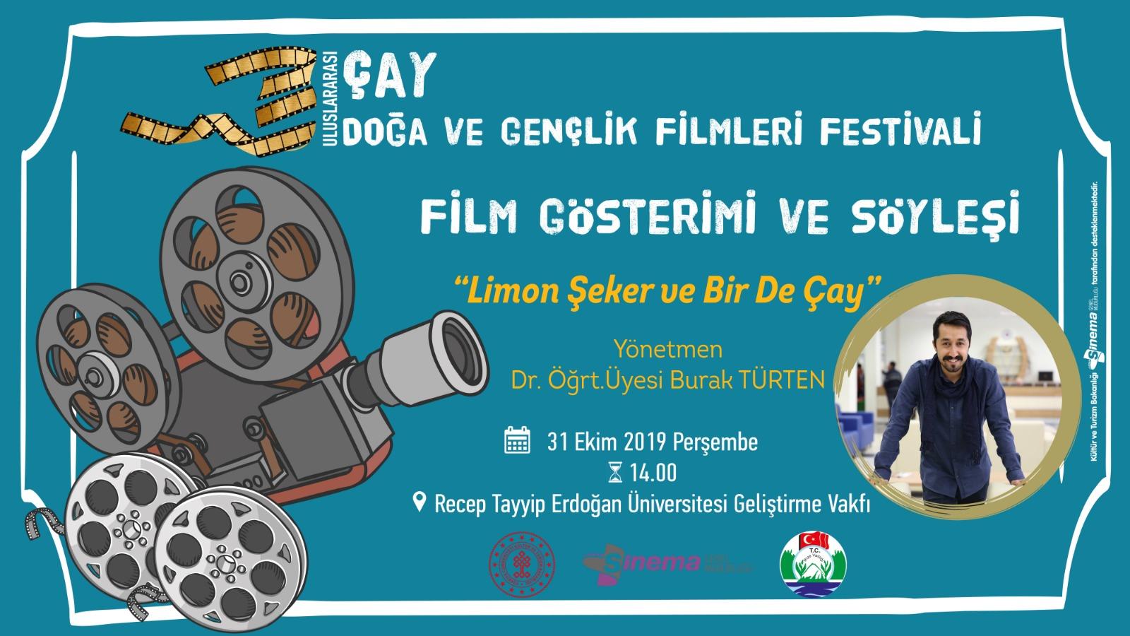 """""""Uluslararası Çay, Doğa ve Gençlik Filmleri Festivali""""nin Özel Davetlisiydik"""
