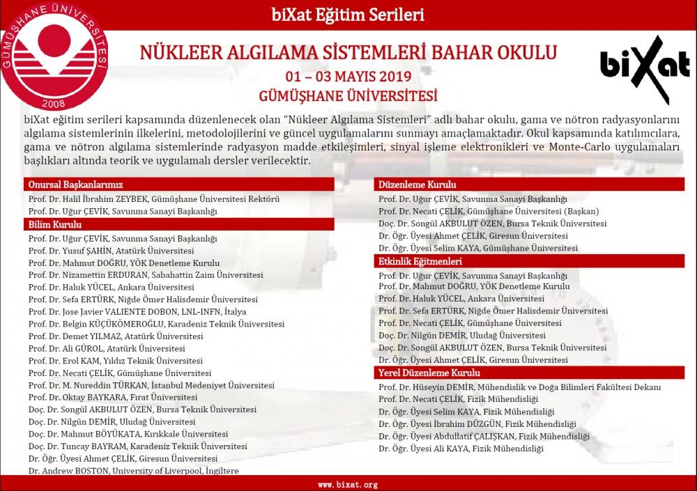 Üniversitemizde Nükleer Algılama Sistemleri Bahar Okulu