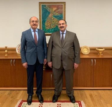 Rektörümüz İŞKUR Genel Müdürü Uzunkaya ile Bir Araya Geldi